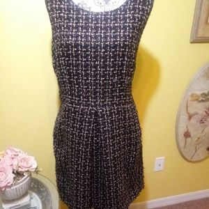 Dresses & Skirts - Black and gold tweed fit and flare dress